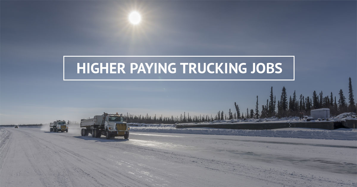 Find Higher Paying Truck Driving Jobs